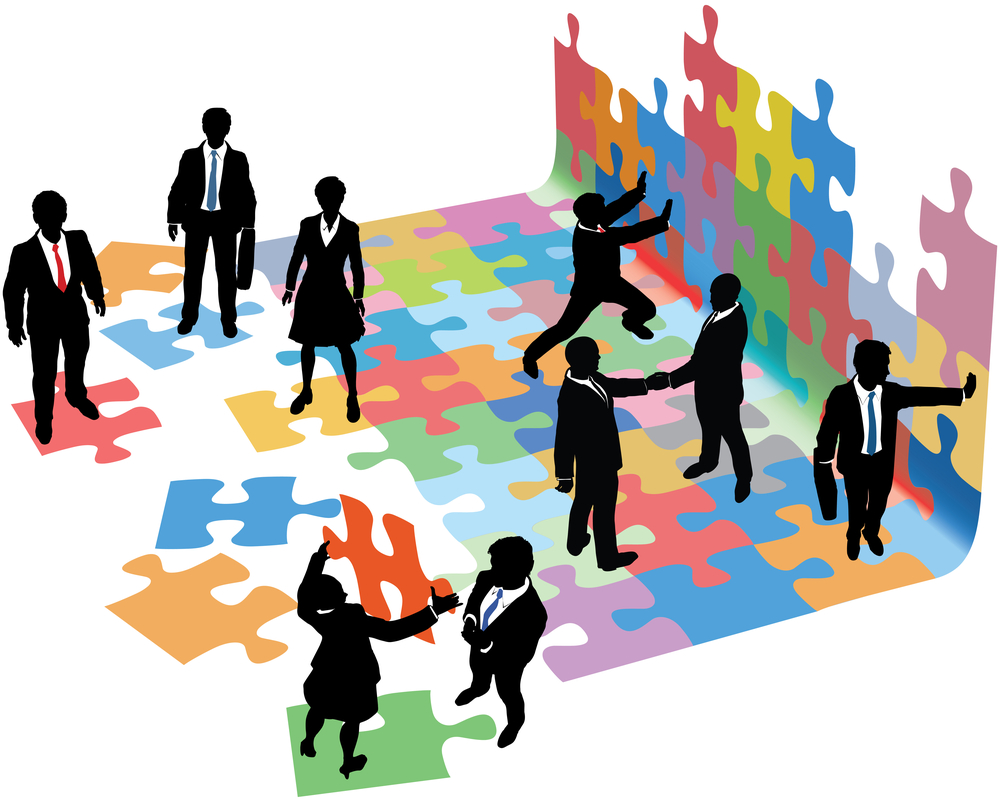 Business-people-collaborate-to-28350953